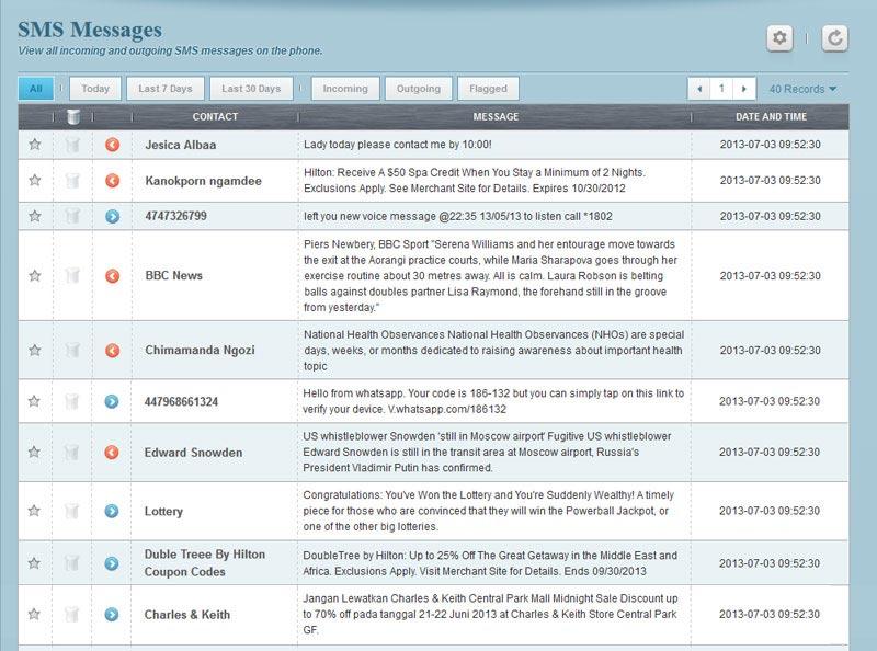 Penyadap pesan sms & email